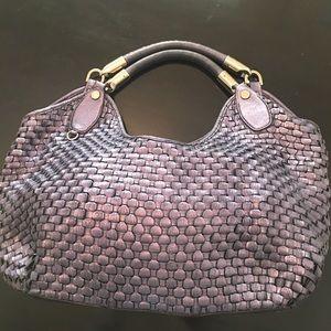 Francesco Biasia metallic purple bag